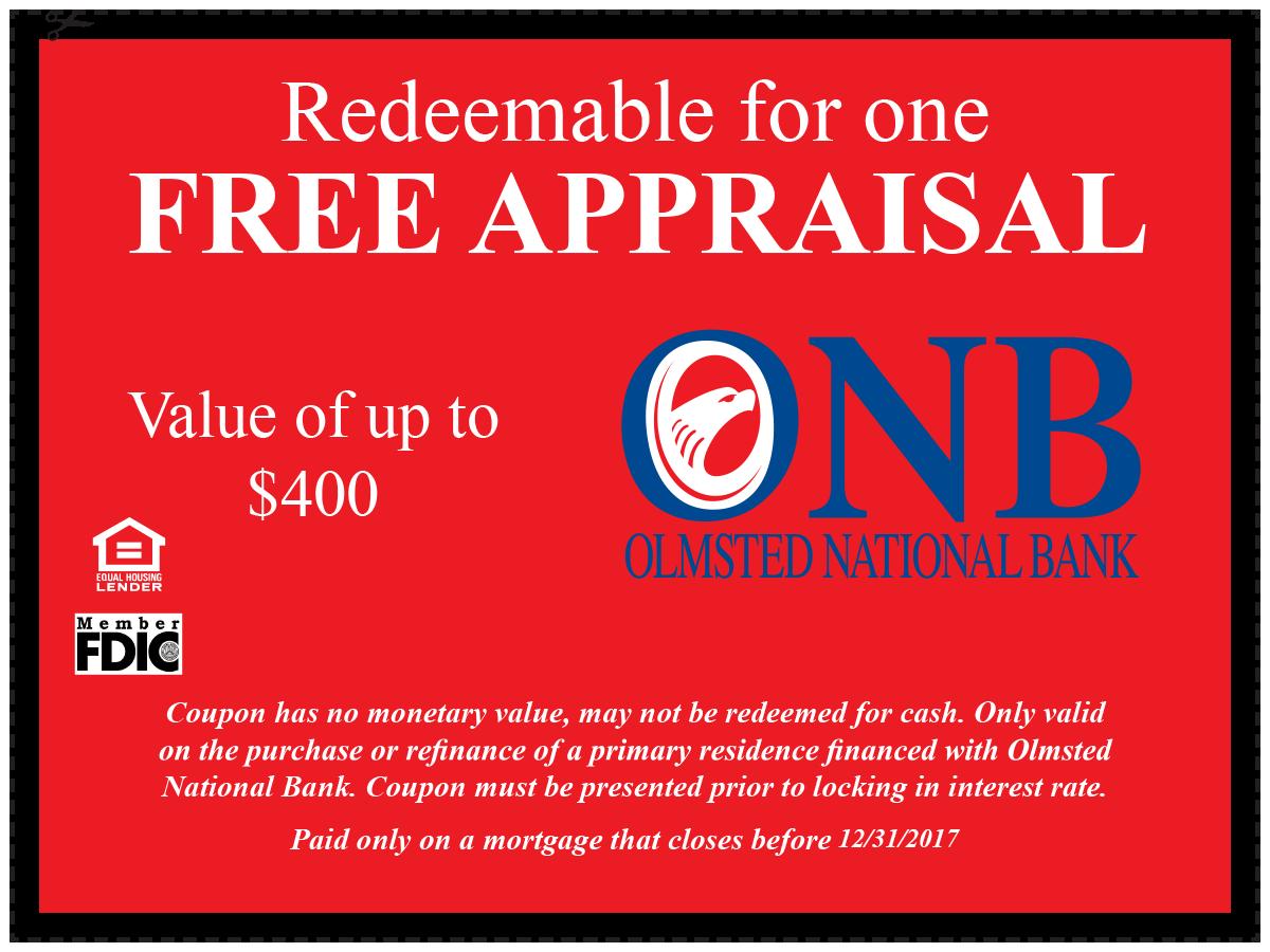 ONB Free Appraisal Coupon