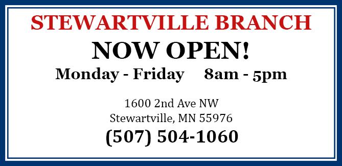 Stewartville Now Open