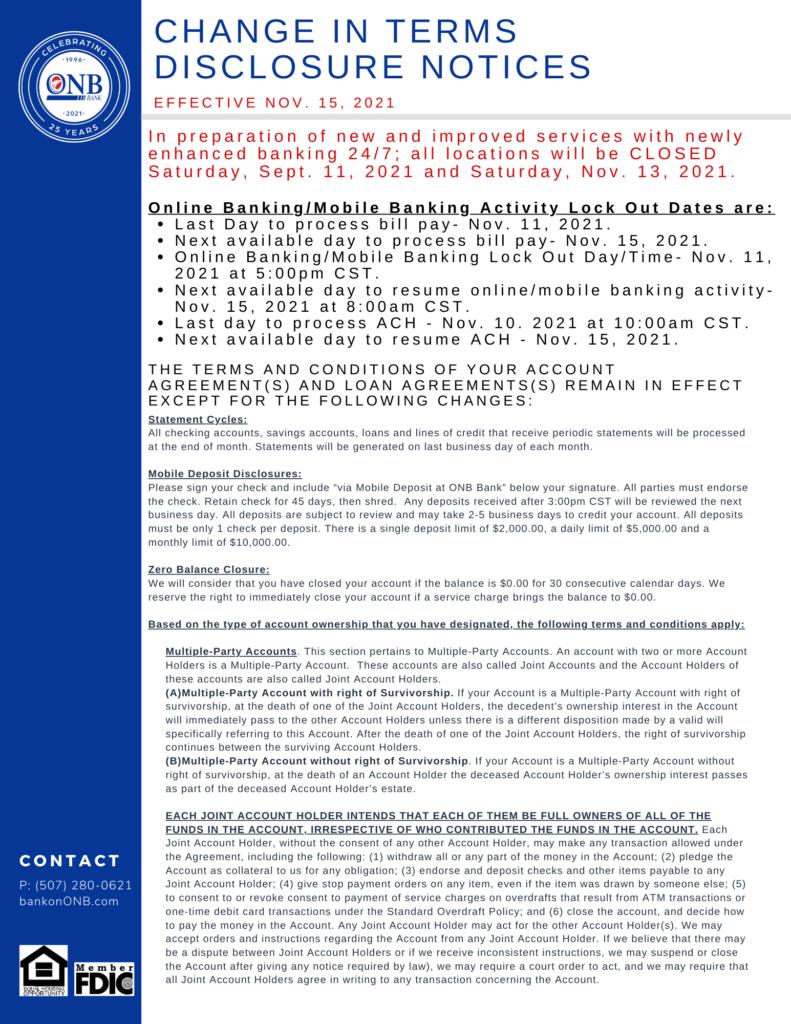 Conversion Disclosure Page 1